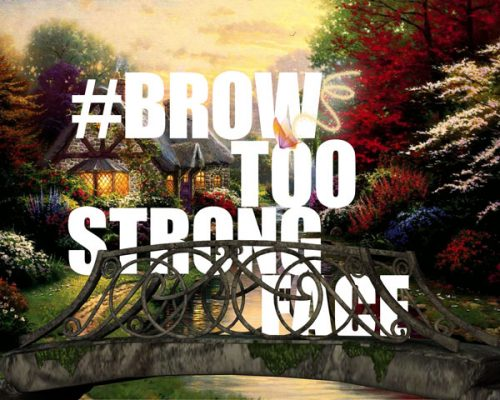 Brow Too Strong Face (Digital C-type 10 x 8in/ 16 x 20in) 2016
